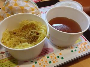 ラーメンバーガー・替え玉とスープ