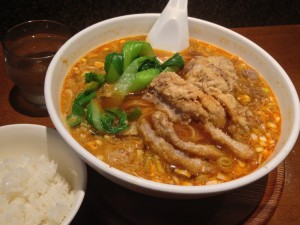 亜寿加(渋谷)の排骨担々麺